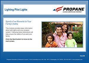 Lighting pilot lights