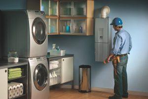 Propane powered water heater