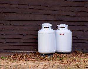 Small, residential propane tanks